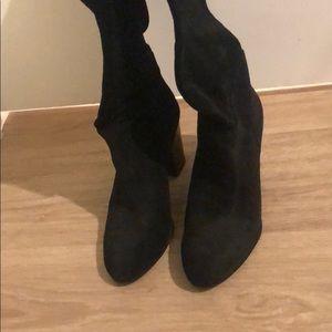 Black Sam Edelman suede boots Hardly worn Size 7.5